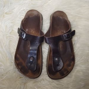 Papillo by Birkenstock Leather Gizeh Thong Sandals